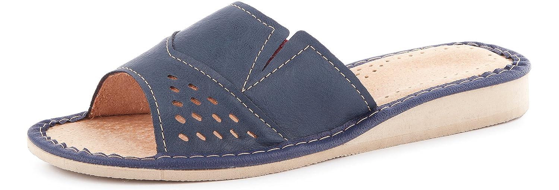 Ladeheid Pantofole Ciabatte Scarpe Aperte Zoccoli Donna LABR34 Blu Scuro