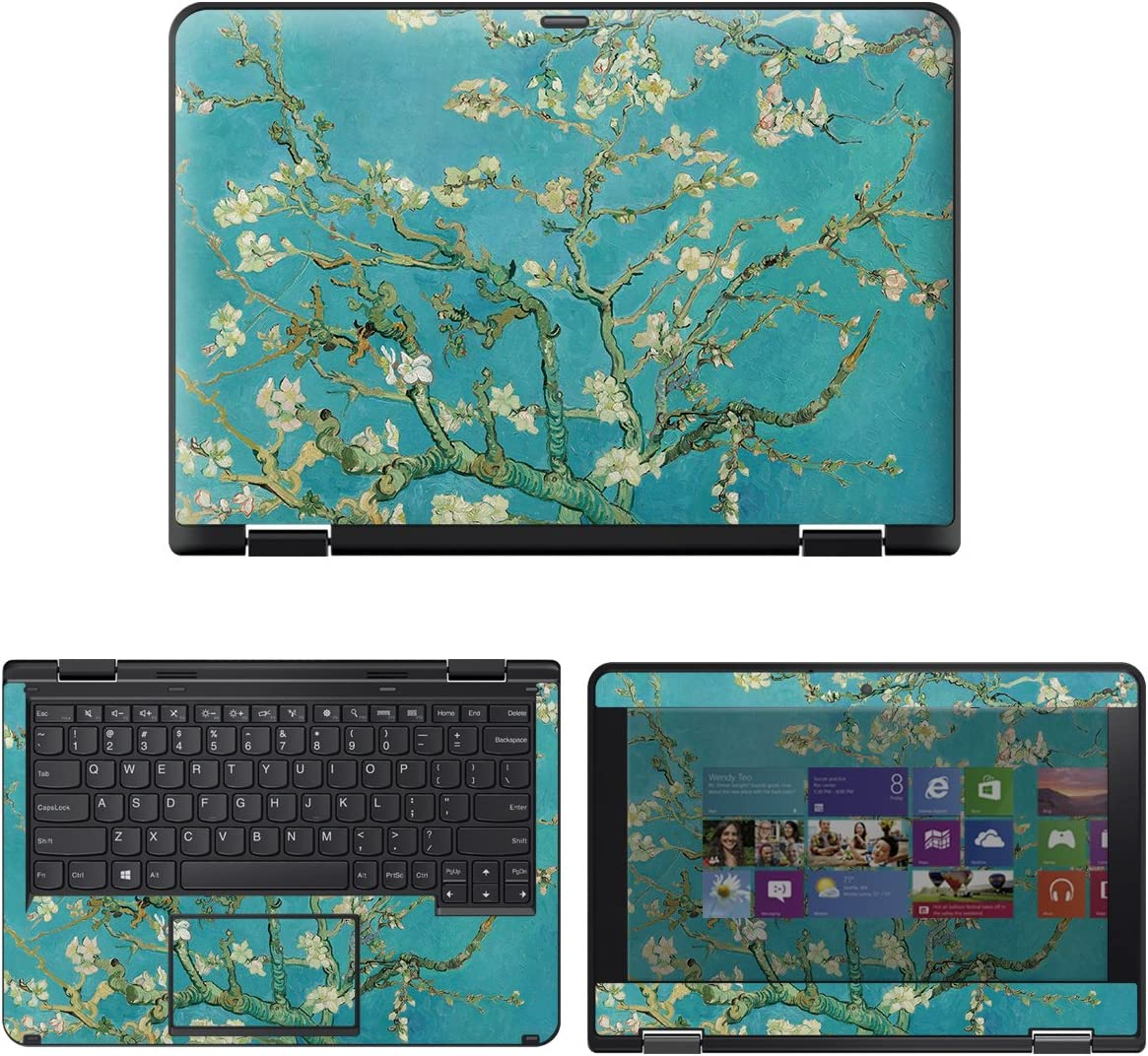 "decalrus - Protective Decal Floral Skin Sticker for Lenovo ThinkPad Yoga 11e (4th Gen.) (11.6"" Screen) case Cover wrap LEthinkkpadYoga11E_4G-230"