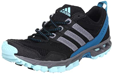 adidas Kanadia 5 tr w Textile Q22382, Damen Laufschuhe, Schwarz (Black 1/Tech Grey F12/Blue Zest S13), EU 37 1/3 (UK 4.5)