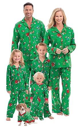 361c461fb5cae PajamaGram Fun Family Christmas Pajamas - Charlie Brown, Green, Women's,  XS, ...