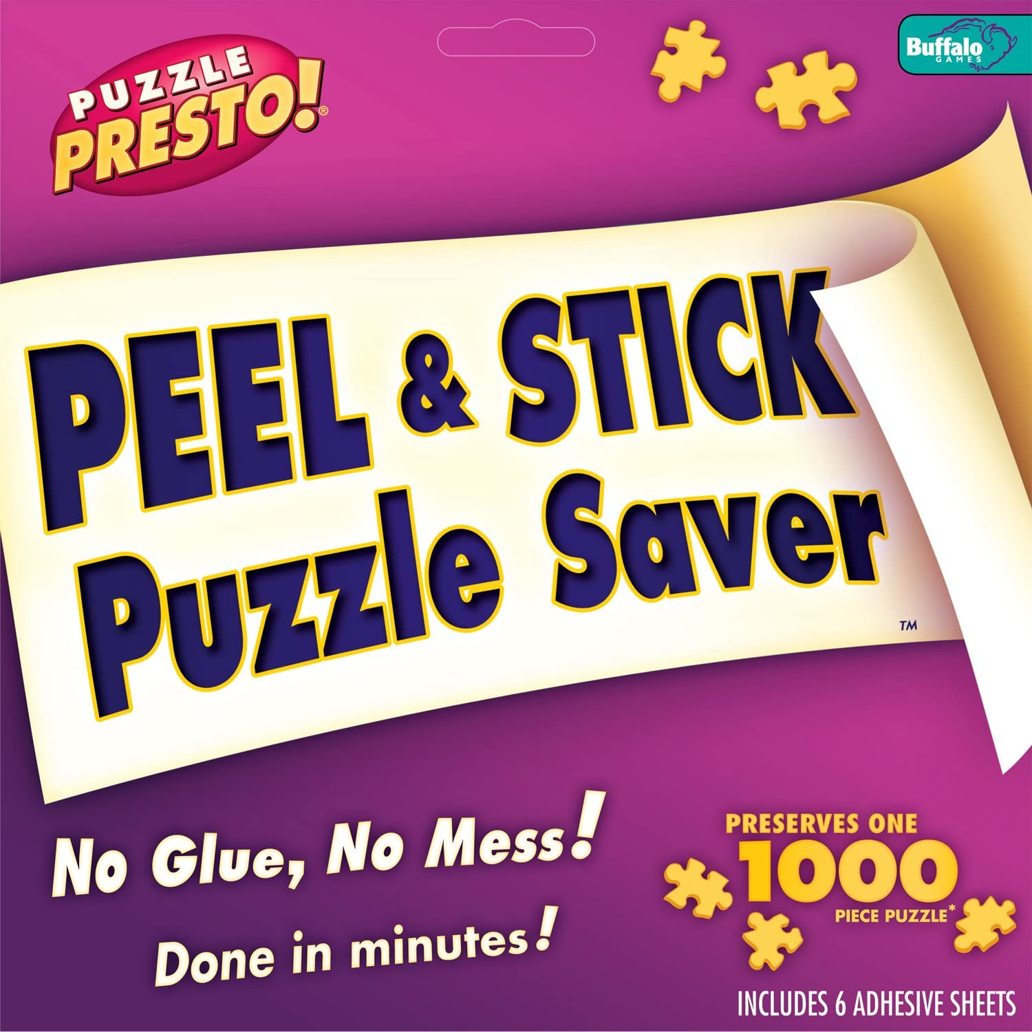 Puzzle Presto! Peel & Stick Puzzle Saver: The Original and Still the Best Way to Preserve Your Finished Puzzle! by Buffalo Games