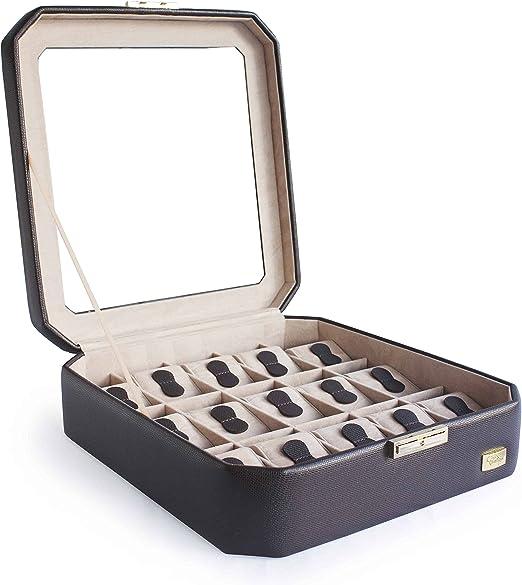 CORDAYS - Estuche Relojero para 15 Relojes con Vitrina de Cristal ...