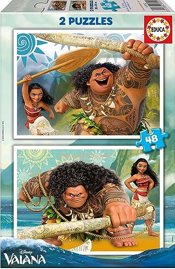 Amazon.com: Vaiana Puzzle Disney 2 x 48pz: Toys & Games