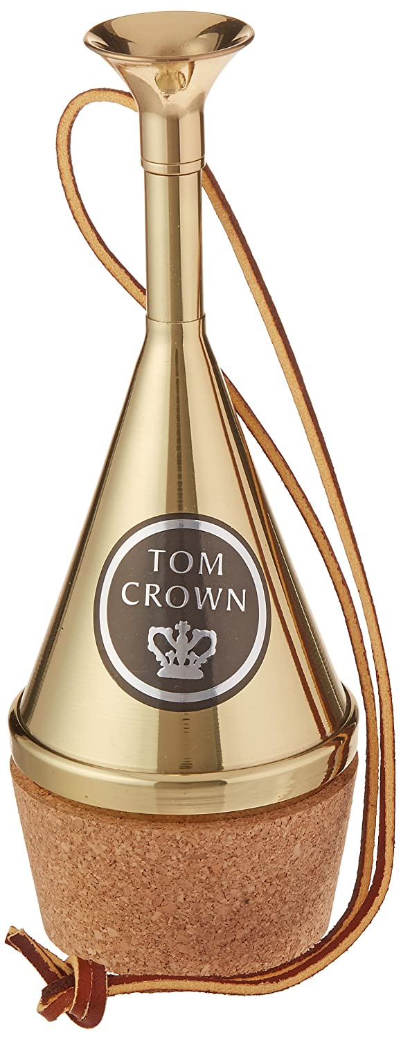 Tom Crown 30FH-Brass French Horn Transposing Mute, Gold