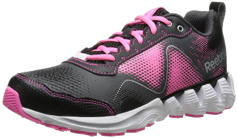 Reebok Women's Zigkick Wild Trail Running Shoe B00HNBOSC0 10 B(M) US|Black/Gravel/Electro Pink/White/Matte Silver
