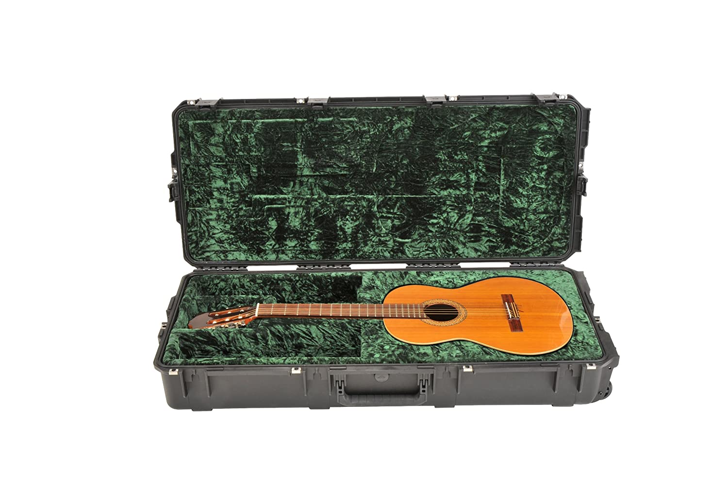 930ac00807 Amazon.com: SKB Injection Molded Classical Guitar Case - TSA Latches, with  wheels (3i-4217-30): Musical Instruments