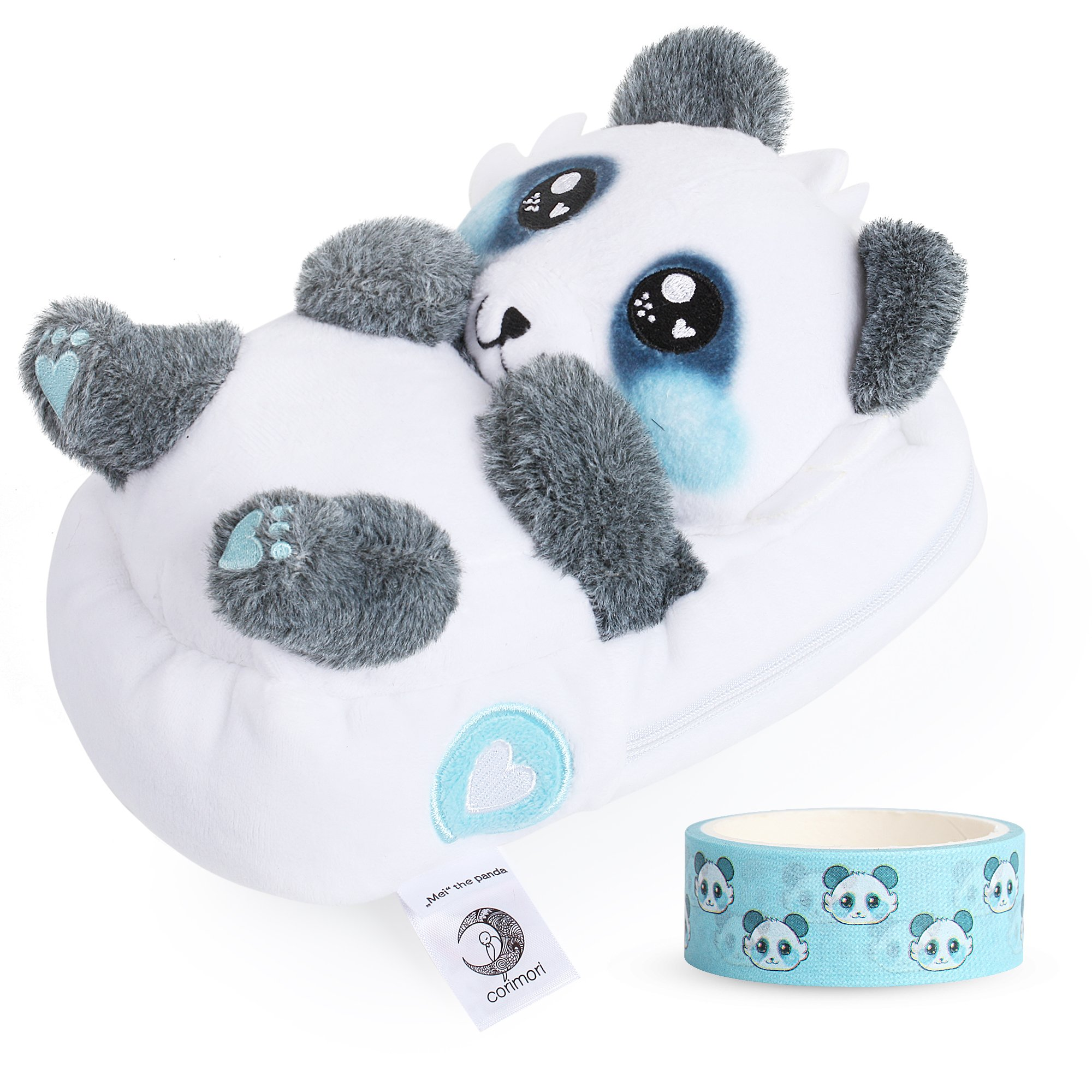 corimori 1845 - Panda Mei 3D Animal Shaped Fluffy Plush Pencil Case