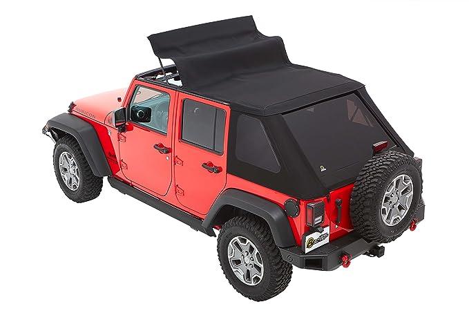 Bestop 56853 - 35 negro diamond trektop NX Plus para 2007 - 2017 Jeep Wrangler JK Unlimited 4 puertas: Amazon.es: Coche y moto