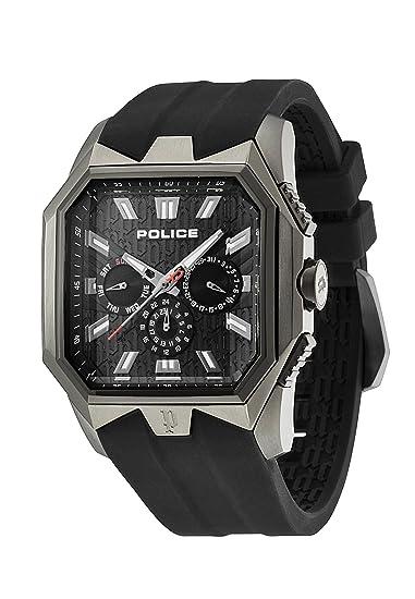 POLICE PL.12893JSUB/02 - Reloj analógico de cuarzo para hombre, correa de