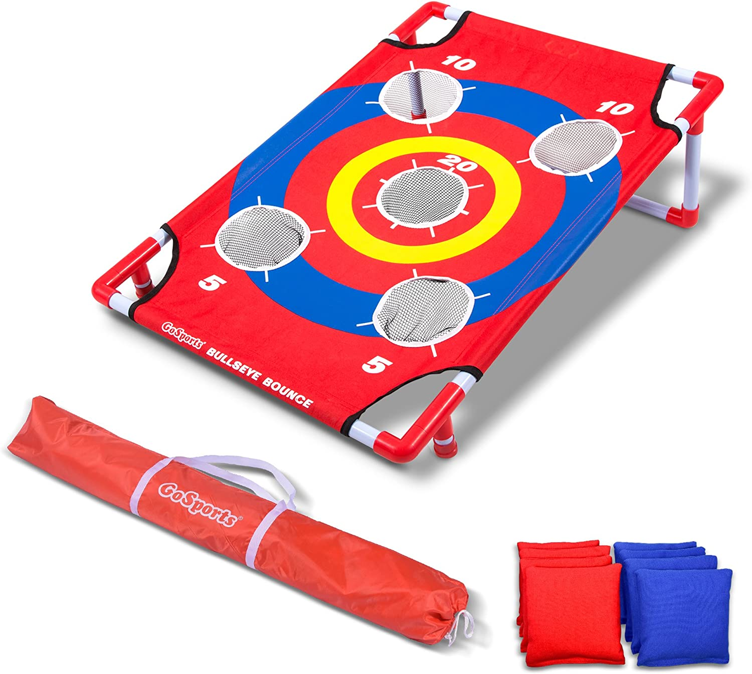 GoSports Bullseye Bounce & Tri Toss Cornhole Toss Games - Great for All Ages & Includes Fun Rules