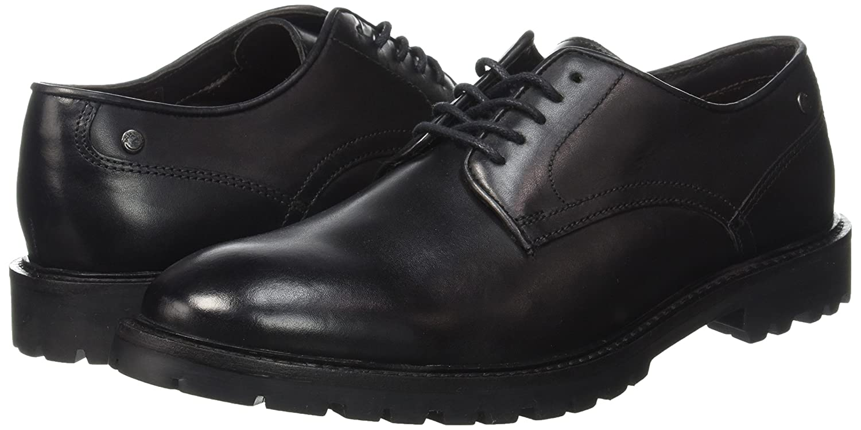 Base London Herren Barrage (Waxy Schnürhalbschuhe Schwarz - Noir (Waxy Barrage schwarz) b04adb