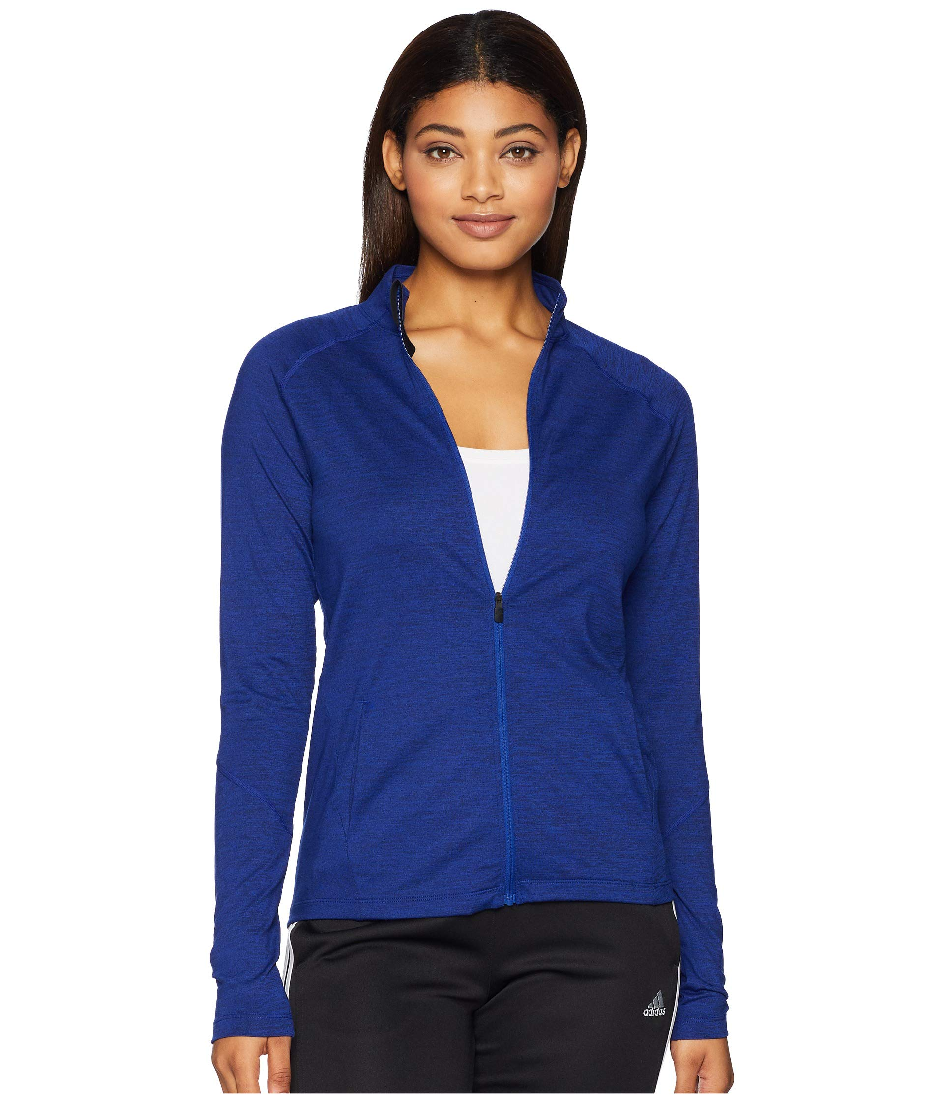 adidas Training Full-Zip Track Jacket, Mystery Ink/Heather, Medium