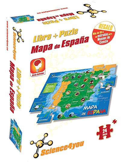 Science4you - Libro + Puzzle Mapa de España A4 - Juguete ...
