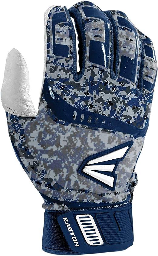Easton Walk Off Adult Medium White//White Baseball//Softball Batting Gloves Pair
