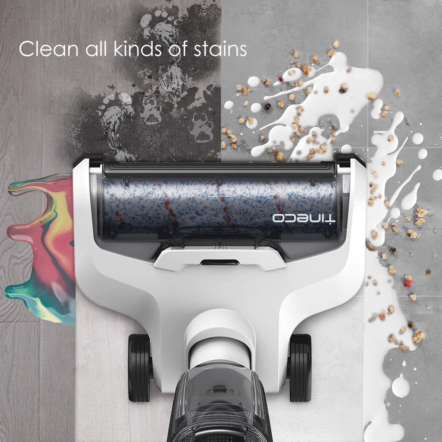 Tineco iFloor Cordless Wet Dry Vacuum Cleaner Powerful and Lightweight Hard Floor Washer with Self-Cleaning Brush by Tineco (Image #3)
