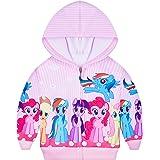 Girls Hoodie Long Sleeve Unicorn Zip Up Jacket Teens Pink Sweatshirt Sport Hood