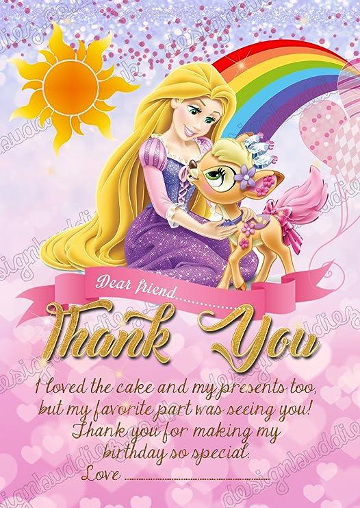 Tarjetas de agradecimiento de princesa Rapunzel de Disney ...