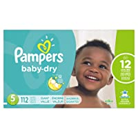 Pampers Pañales Desechables Baby Dry, Talla 5, 112 Piezas