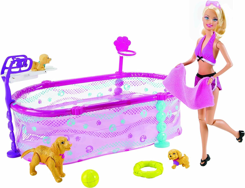 Amazon.es: Barbie - Escuela de natación para mascotas [Versión en ...