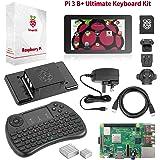 """Raspberry Pi 3 B+ Ultimate Starter-Set – Komplettes Touch & Teach-Paket mit Pi3 B+ Motherboard, 7"""" Touchscreen, Tastatur, 32GB vorinstalliertem NOOBS, Originalgehäuse, 2 Kühlern, HDMI, Stromversorgung"""