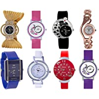 Shree Analog Multi Color Watch for Women and Girls - Combo of 8 Watch-55599904