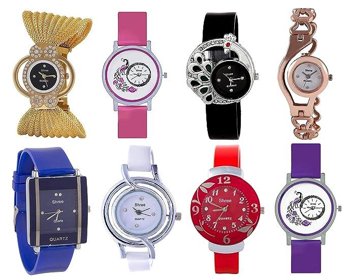 6d07d27f9 Image Unavailable. Image not available for. Colour: Shree Quartz Movement  Analogue Multicolour Dial Women's Watch ...