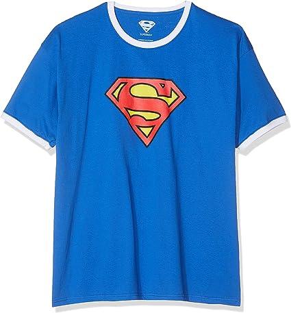 TALLA L. DC Comics Superman Logo Camiseta para Hombre