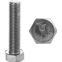 FASTON Zeskantschroeven M6x20 roestvrij staal A2 V2A (20 stuks) DIN 933 schroefdraad zeskantschroeven machineschroef…