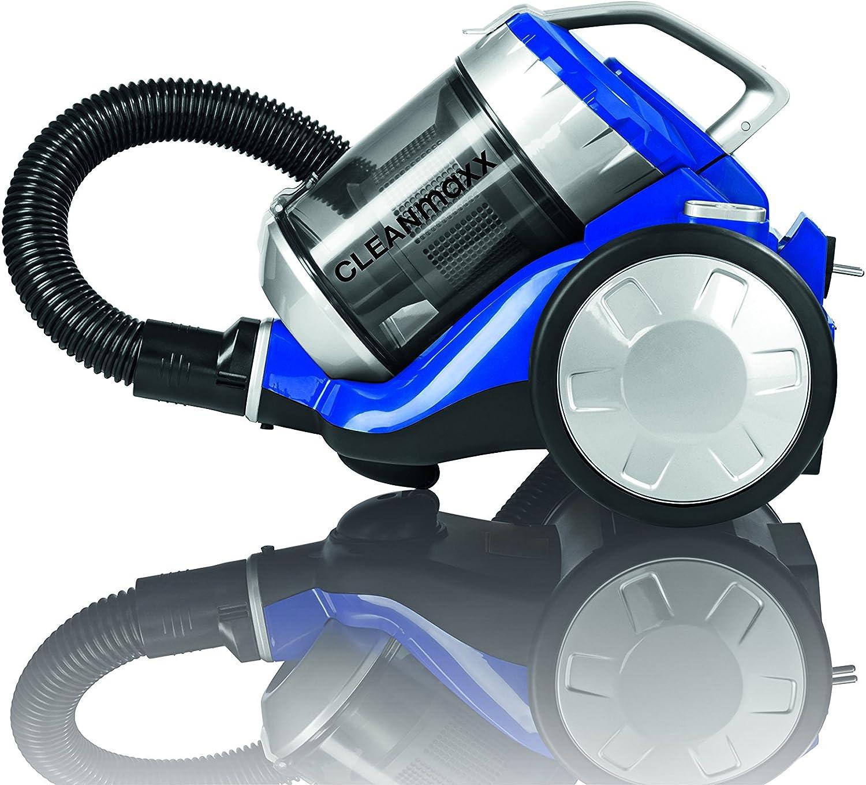 Cleanmaxx 09897 – Aspirador ciclónico, 700 W, sin bolsa, presupuesto Lavado | Power 3000 | suelo Lavado, eficiencia energética A + +, Azul/Plata: Amazon.es: Hogar