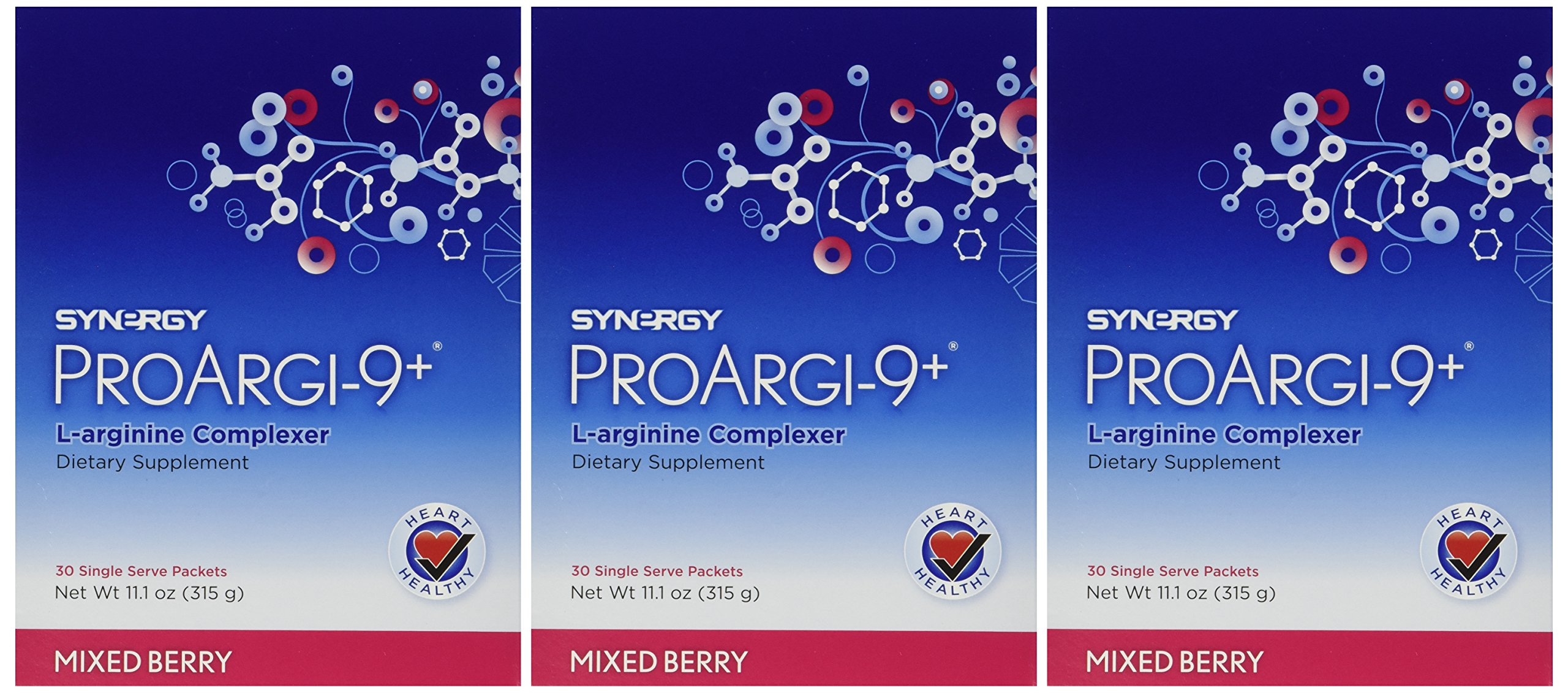 3 ProArgi 9 Plus Mixed Berry Single Serving Packets Support Heart Health (3) Boxes by 3 ProArgi 9 Plus Boxes