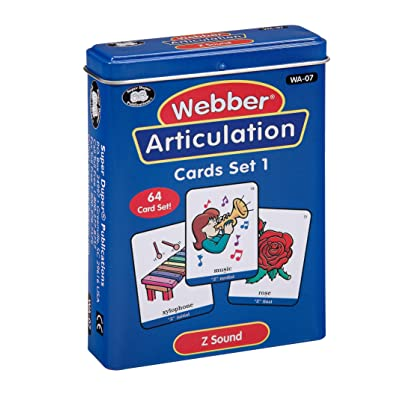 Super Duper Publications | Articulation Z Sound Fun Deck | Vocabulary and Language Development Flash Cards | Educational Learning Materials for Children: Toys & Games