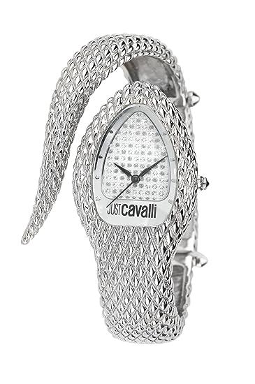 Just Cavalli Poison - Reloj (Reloj de pulsera, Femenino, Acero, Plata,
