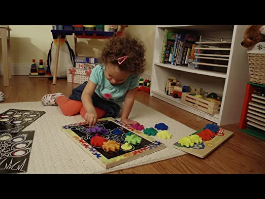 Amazon.com: Melissa & Doug Spinning Wheels Gear Toy With 6 ...