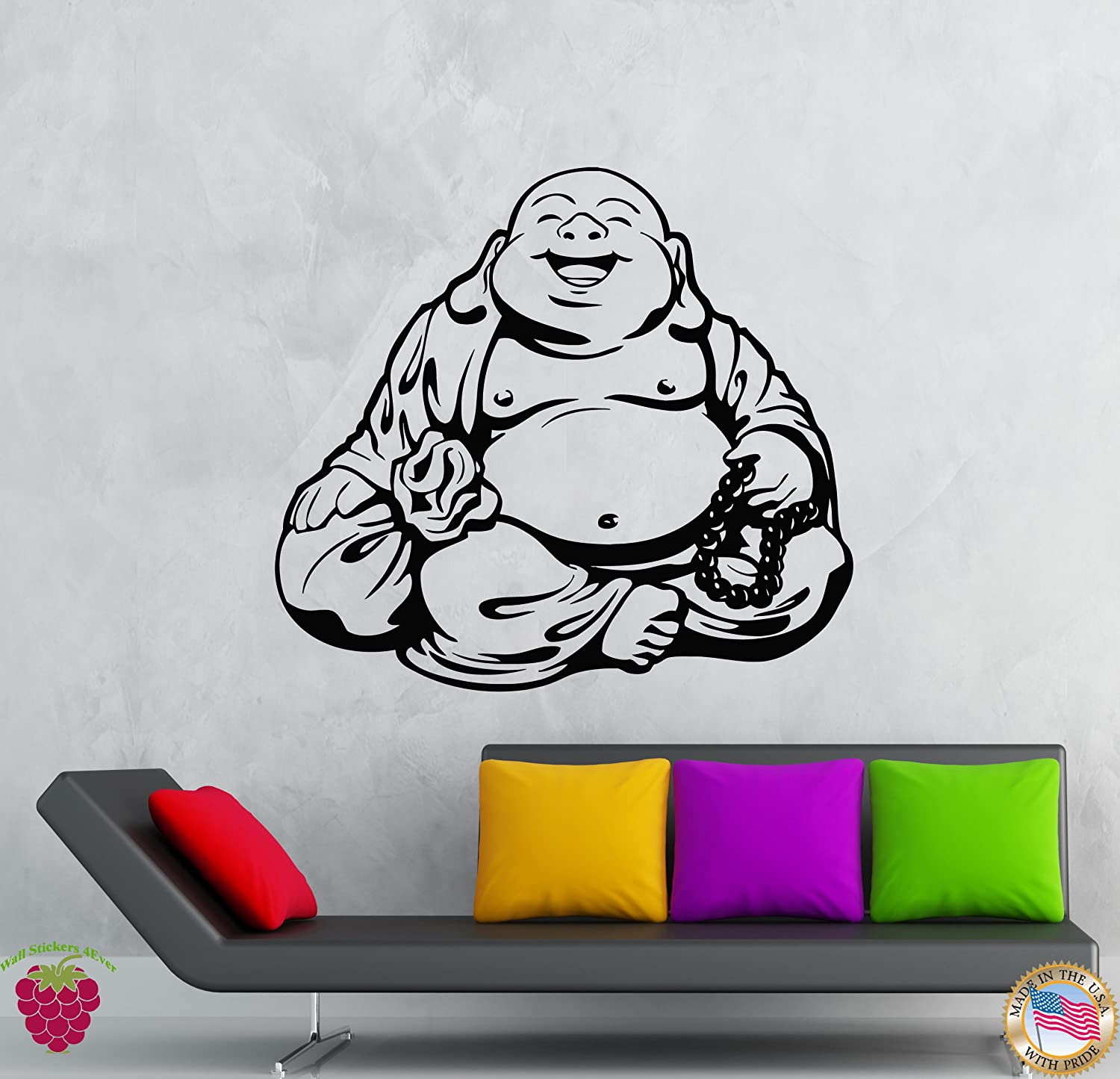 Wall Sticker Laughing Buddha Living Room Décor Vinyl Picture Art