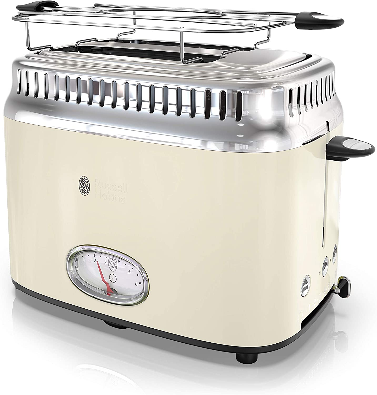 Russell Hobbs TR9150CRR Retro Style 2-Slice Toaster, Cream
