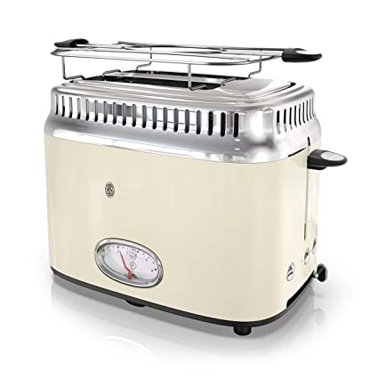 new product 39bdf 118a7 Amazon.com  Russell Hobbs TR9150CRR Retro Style Toaster 2-Slice Cream   Kitchen   Dining