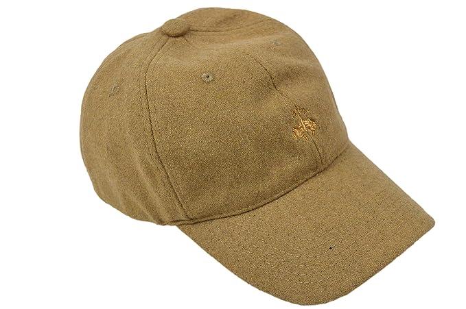 27d3f8f9842 Brooks Brothers Men s Wool Baseball Cap Hat Sand Beige (Small Medium ...