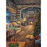 Bits and Pieces 300 Large Piece Jigsaw Puzzle for Adults - Total Comfort - 300 pc Christmas, Holiday Jigsaw by Artist Sam Timm