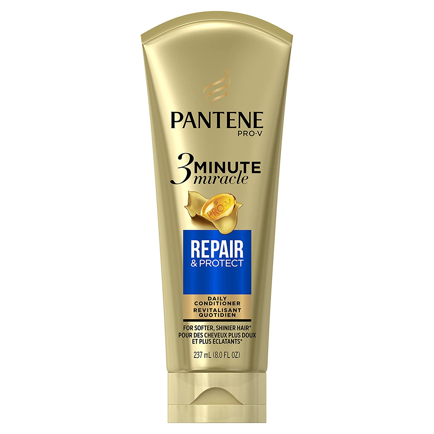 Pantene Repair & Protect 3 Minute Miracle Daily Conditioner, 8.0 fl oz (Packaging May Vary)