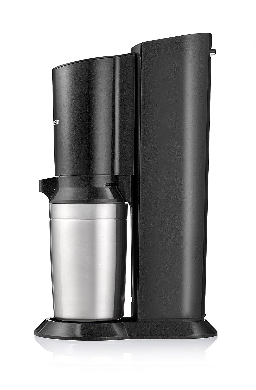 avec bouteille en verre allant au lave-vaisselle pour votre eau gaz/éifi/ée avec 1 cylindre et 1 carafe en verre 0,6l Couleur: Arroseur /à eau potable Titan acier bross/é SodaStream Crystal 2.0 130 cm