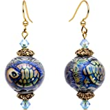 Body Candy Handcrafted Sea Turtle Mood Earrings Created with Swarovski Crystals