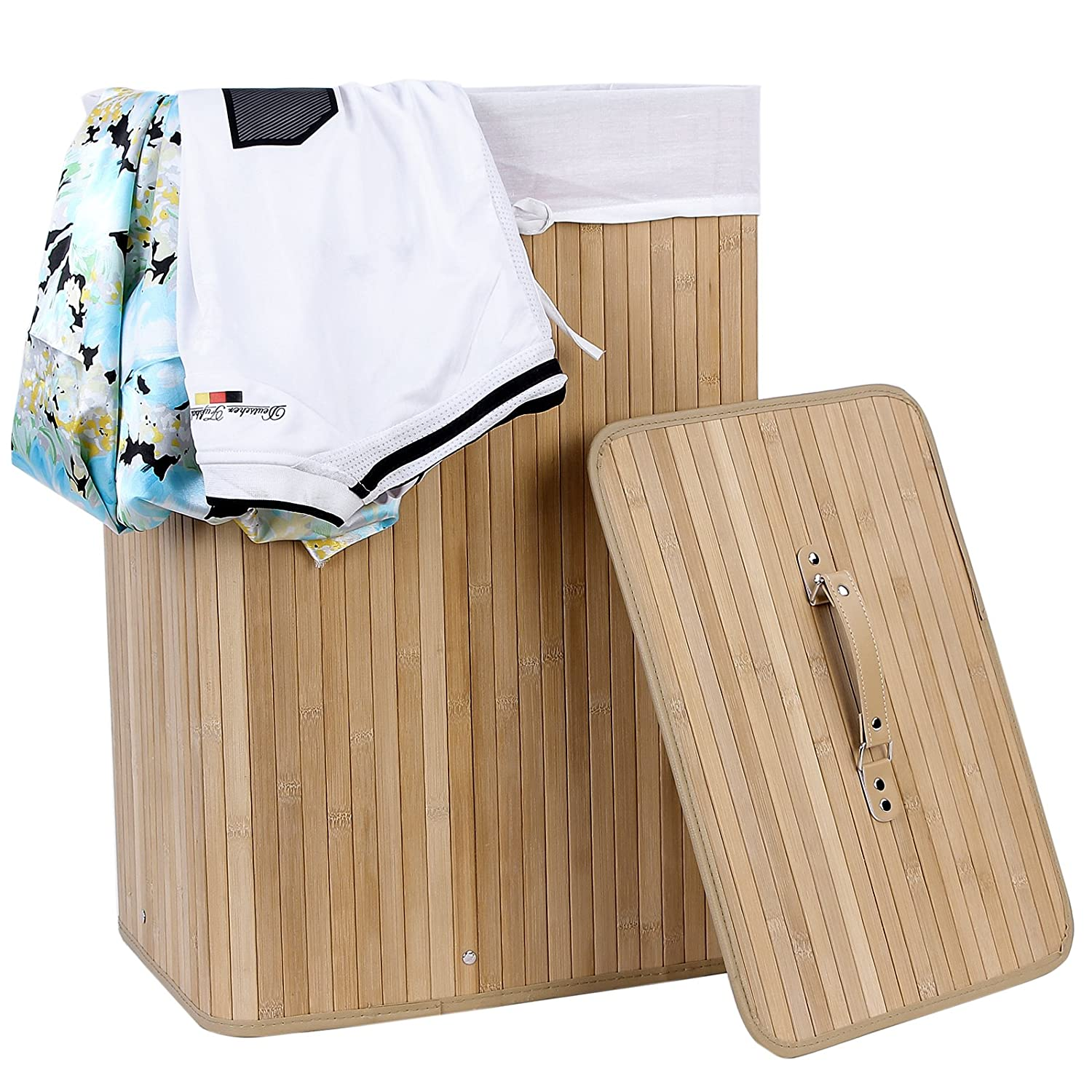 Large Folding Laundry Basket Laundry Box With Lining