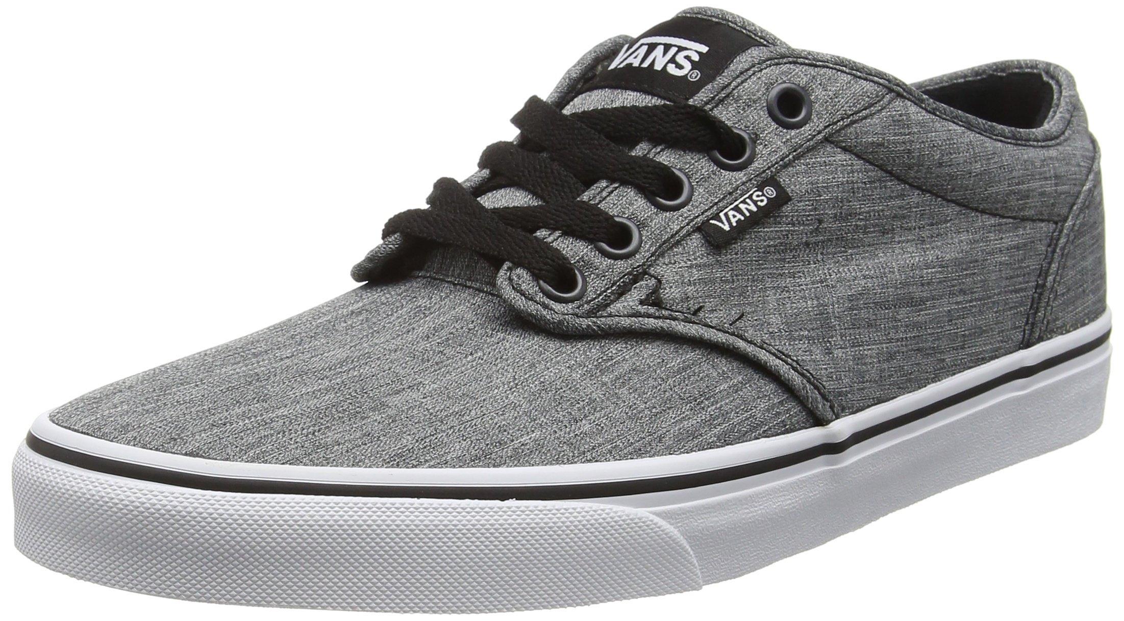 b7c67a3c61 Galleon - Vans Mens M Atwood Rock Shoes Textile Black White Size 10