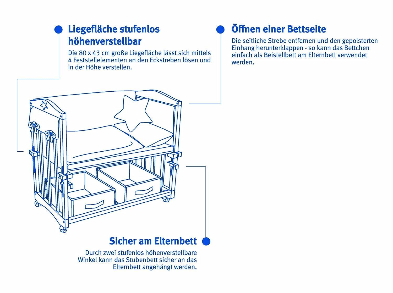 babywiege roba 4 in 1 affordable roba stubenbett in biene maja babybett wiege kinderbank holz. Black Bedroom Furniture Sets. Home Design Ideas
