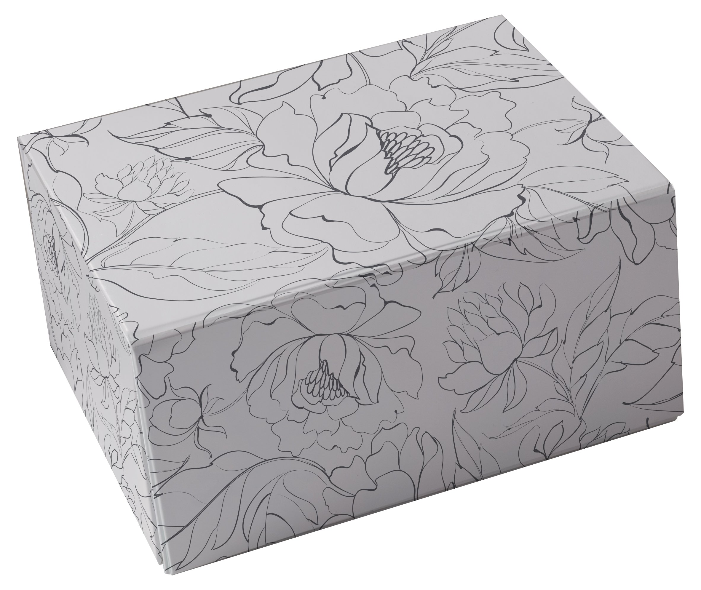 Snap-N-Store Storage Box 3-Piece Set, Small/Medium/Large, Hand Drawn Floral (SNS03327)