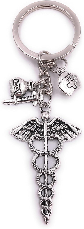 Gesundheit Arzt Spritze Schlüsselanhänger Anhänger Silber aus Metall