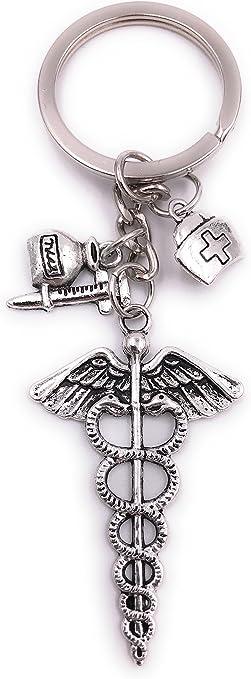 H Customs Gesundheit Arzt Spritze Schlüsselanhänger Anhänger Silber Aus Metall Spielzeug