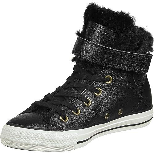 a1a9432eb6b7 Converse Chucks CT AS Brea Leath 553394 °C Black  Amazon.co.uk  Shoes   Bags