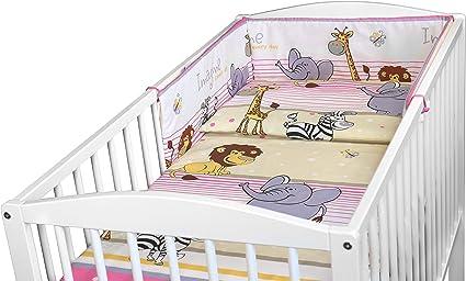 Baby Bedding Set 3PCS COT Size Pillow Duvet Cover Bumper 120x60CM Colorful Elephants