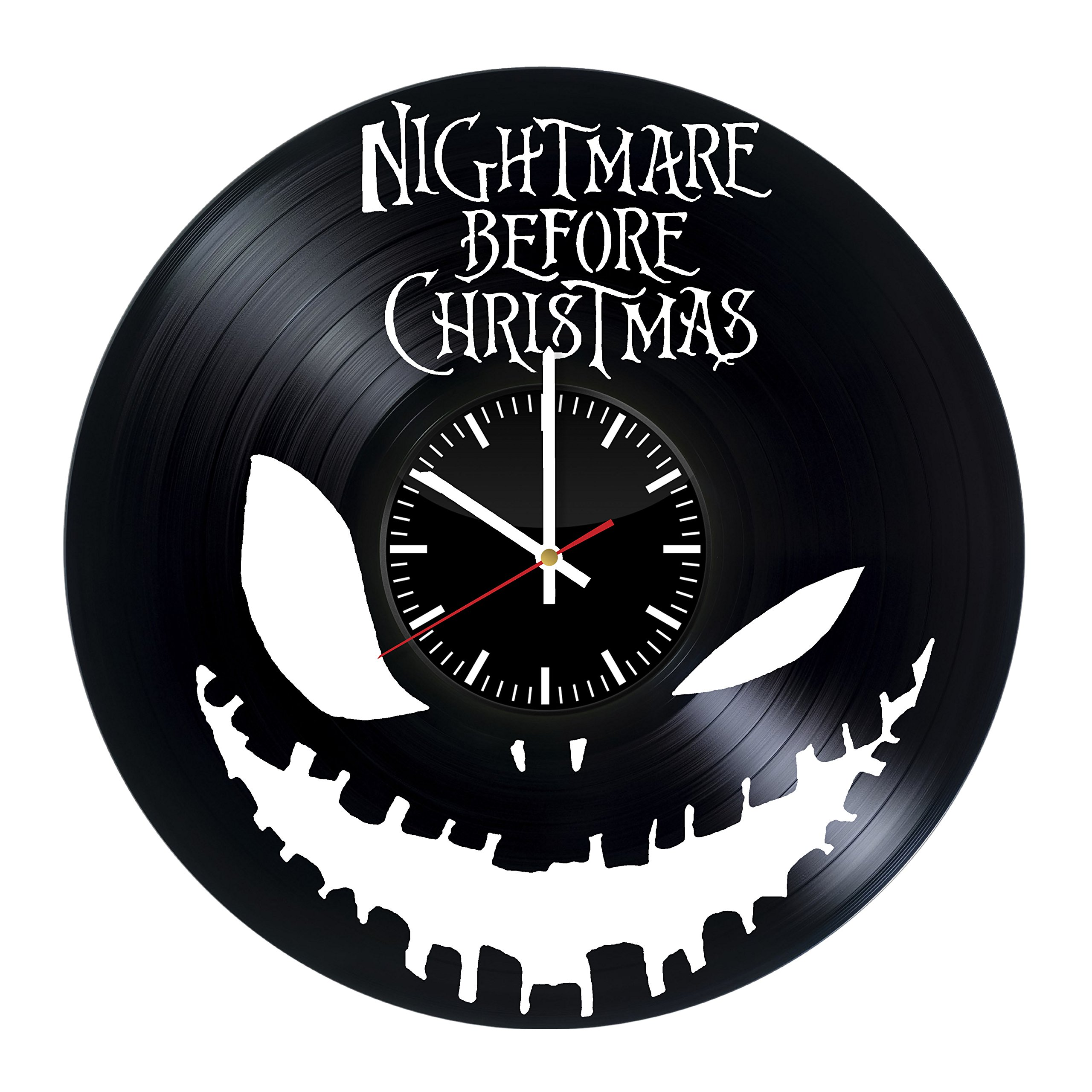 Nightmare Before Christmas Vinyl Record Wall Clock.Get unique home ...